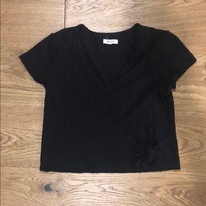 Madewell Wrap Short Sleeve Top
